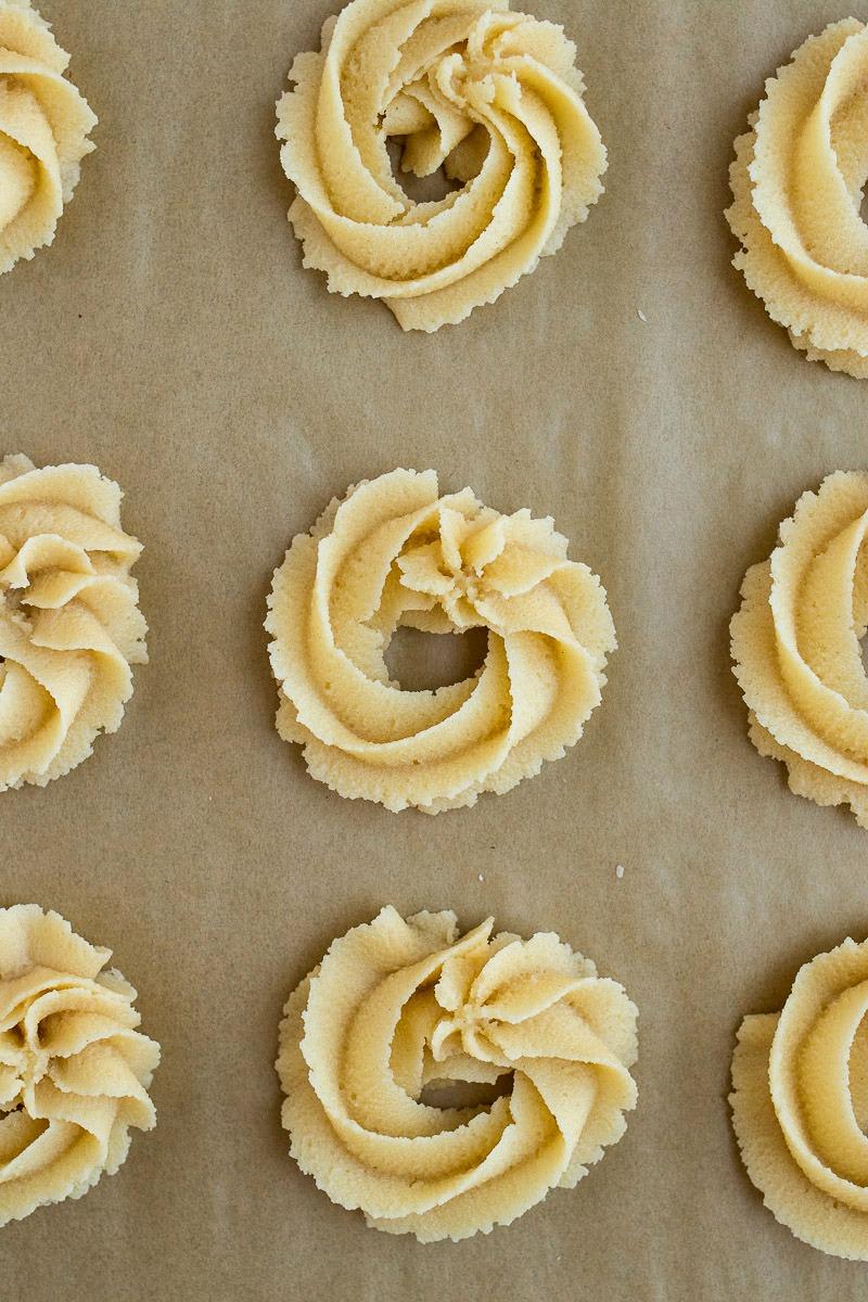 Danish Butter Cookie dough in a circle
