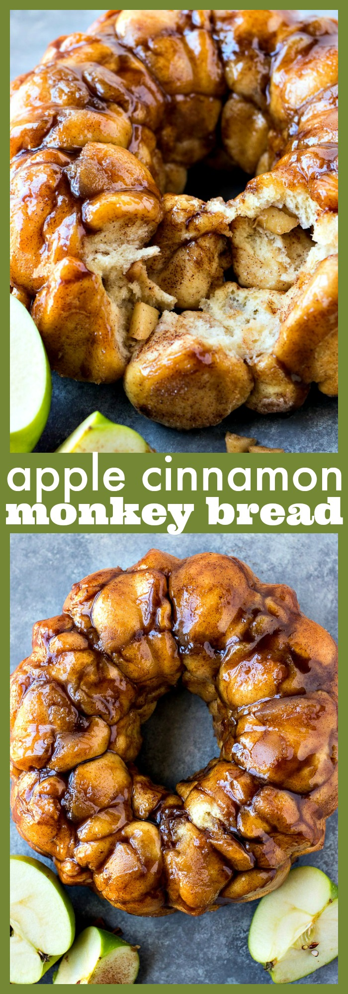 Apple Cinnamon Monkey Bread  photo collage