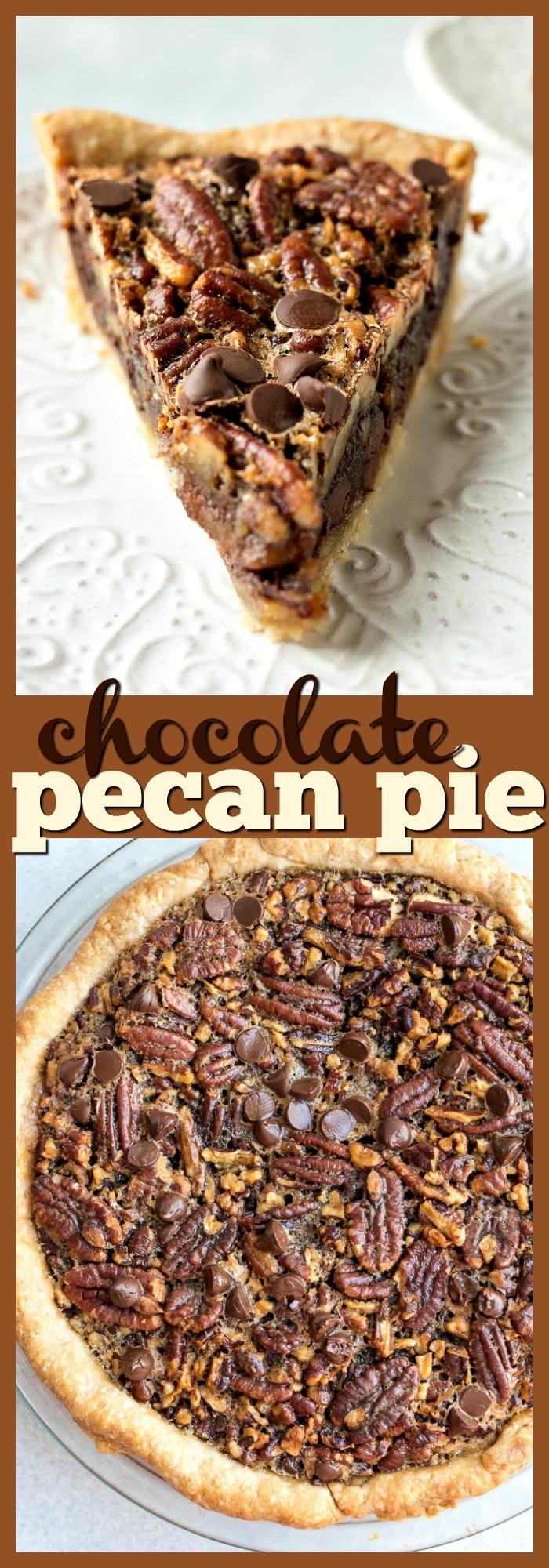 Chocolate Pecan Pie photo collage