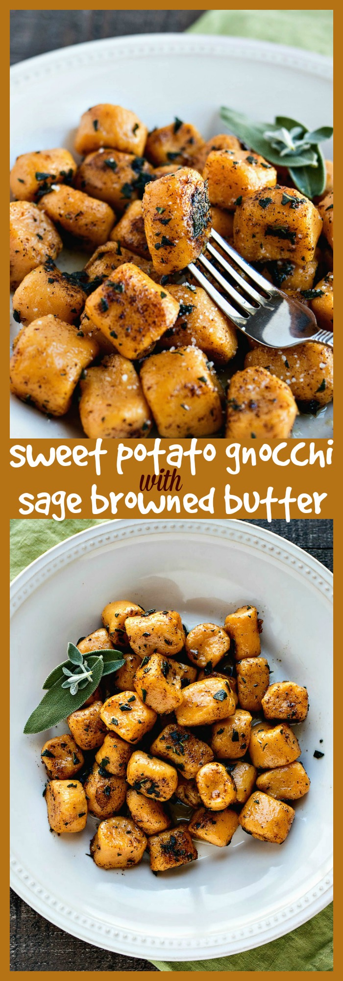 Sweet Potato Gnocchi with Sage Browned Butter photo collage