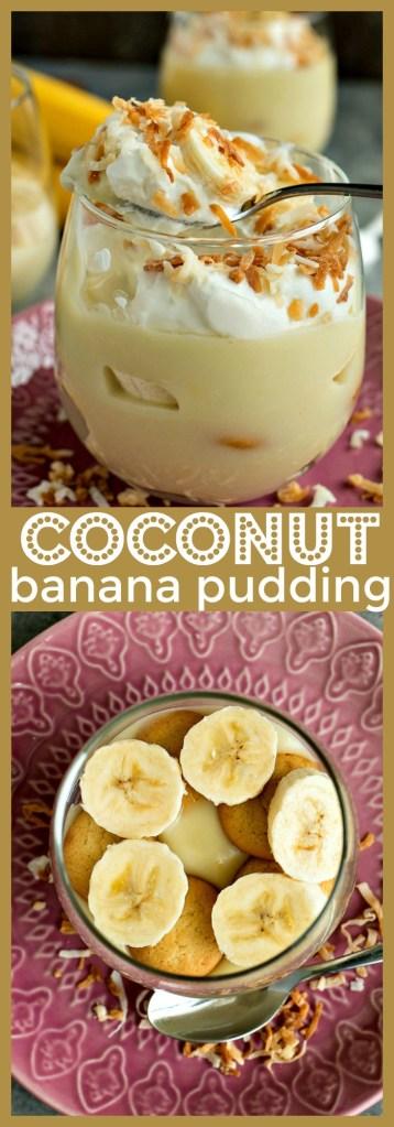Coconut Banana Pudding photo collage