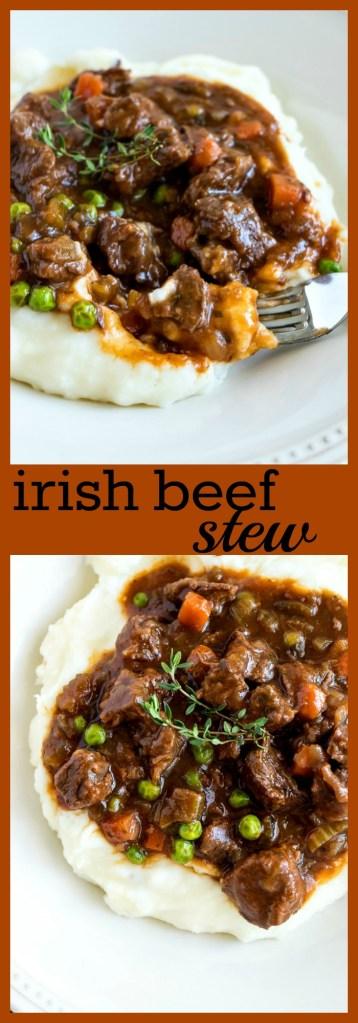 irish beef stew photo collage