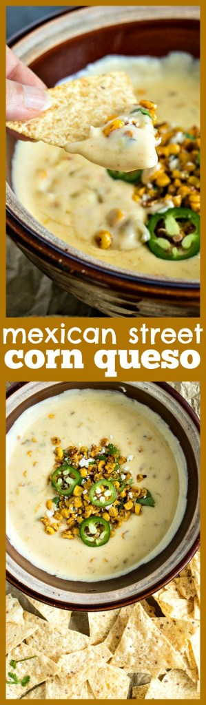 Mexican Street Corn Queso photo collage
