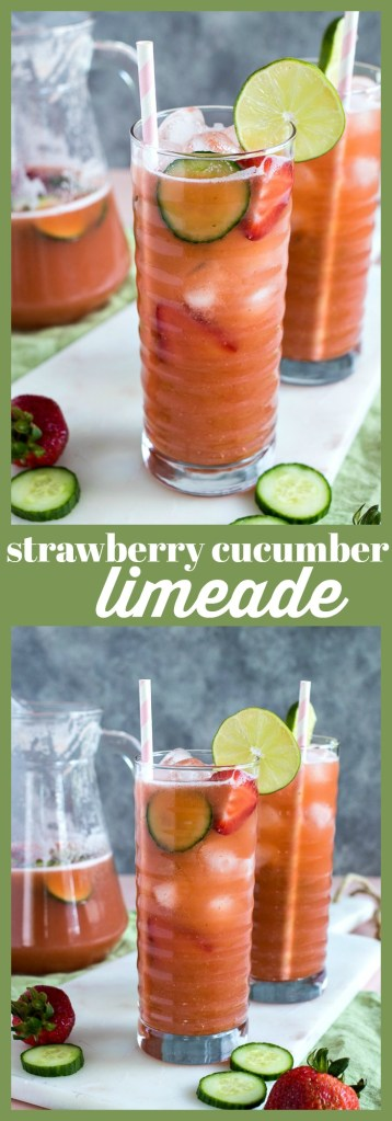 Strawberry Cucumber Limeade photo collage