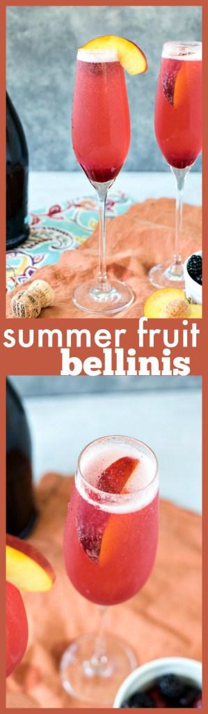 Summer Fruit Bellini photo collage