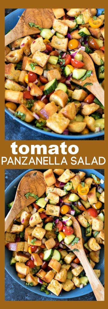 Tomato Panzanella Salad photo collage
