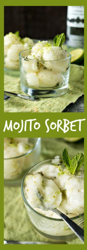 Mojito Sorbet photo collage