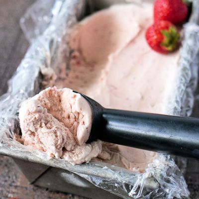Strawberry Balsamic Ice Cream