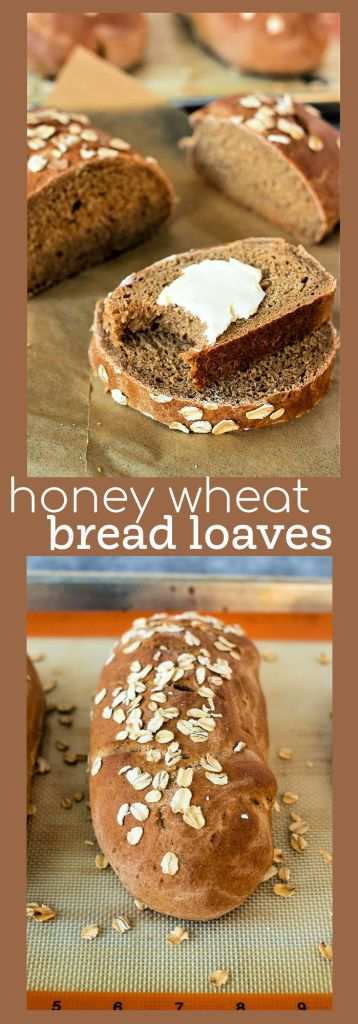 honey wheat bread loaves photo collage