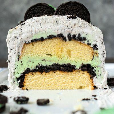 Mint Cookie Ice Cream Cake