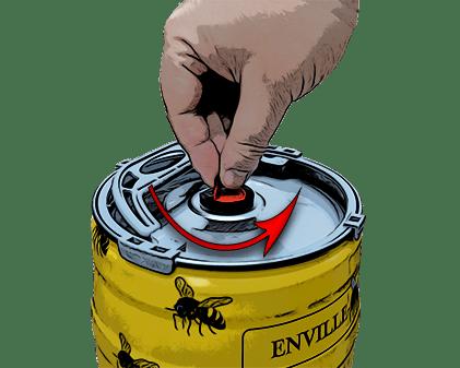 How to open a mini keg step 1