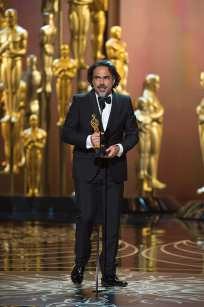 "Alejandro G. Iñárritu accepts the Oscar® for Achievement in directing, for work on ""The Revenant"" during the live ABC Telecast of The 88th Oscars® at the Dolby® Theatre in Hollywood, CA on Sunday, February 28, 2016."