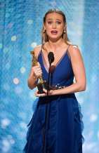 """Brie Larson accepts the Oscar® for Performance by an actress in a leading role, for work on """"Room"""" during the live ABC Telecast of The 88th Oscars® at the Dolby® Theatre in Hollywood, CA on Sunday, February 28, 2016."""