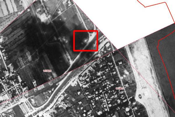 Il bunker in una foto di ricognizione RAF del '43/'44