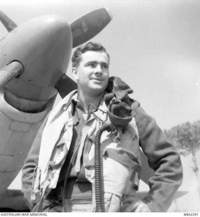 1945, Ritratto del maresciallo John Taylor del 3° Squadron RAAF.