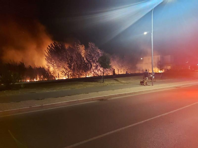 Incendio vicino alla nuova Coop