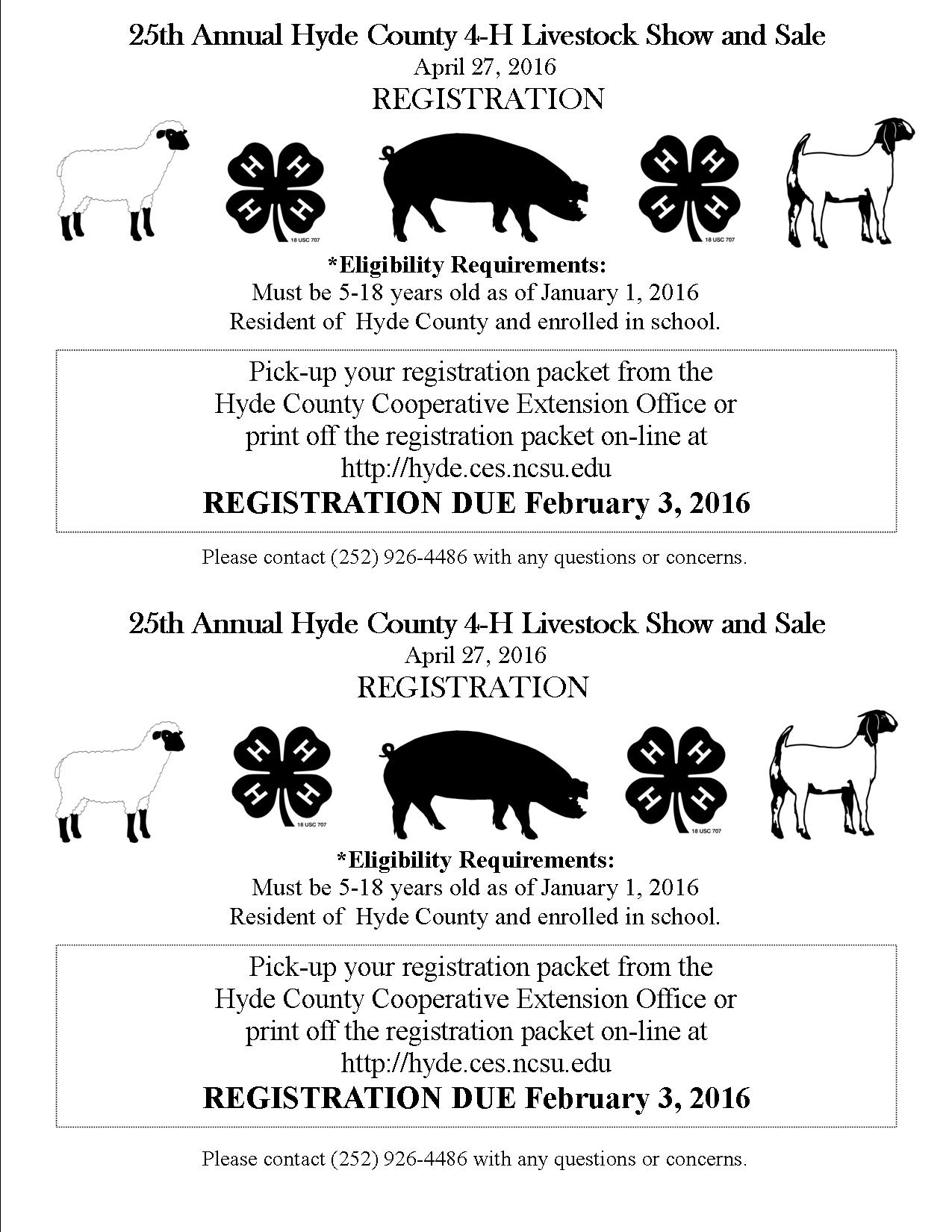 25th Annual Hyde County 4 H Livestock Show And Sale