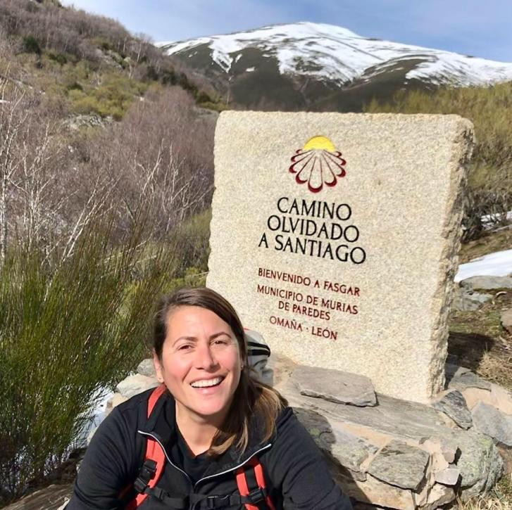 Ria, experta en el Camino de Santiago