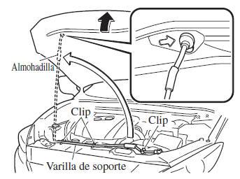 Mazda3. Abriendo el capó