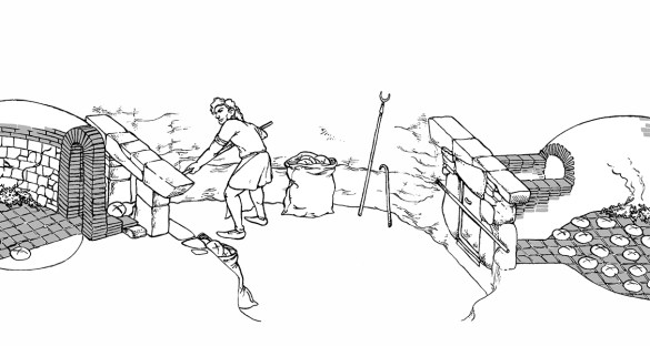 historical illustration_oven_Banyoles_Archaeologiacal_Museum