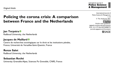 Policing the corona crisis: A comparison between France and the Netherlands