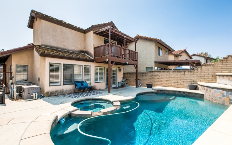 Pool and Spa Backyard Chino Hills