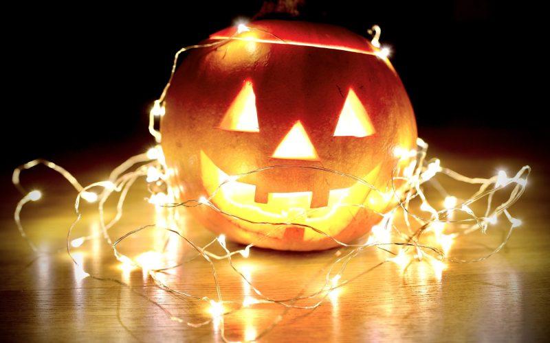 Jack-o-lantern with Lights