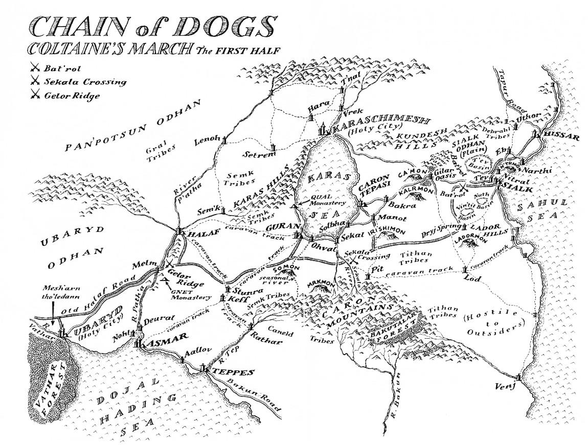 Return Of The Crimson Guard Malazan Map Collection
