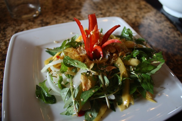 Mango salad at Morning Glory Cooking Class, Hoi An, Vietnam
