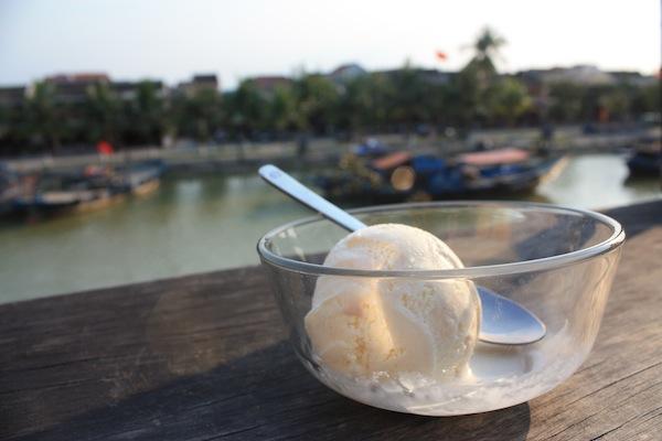 Lemongrass ice cream at Cargo Club, Hoi An, Vietnam