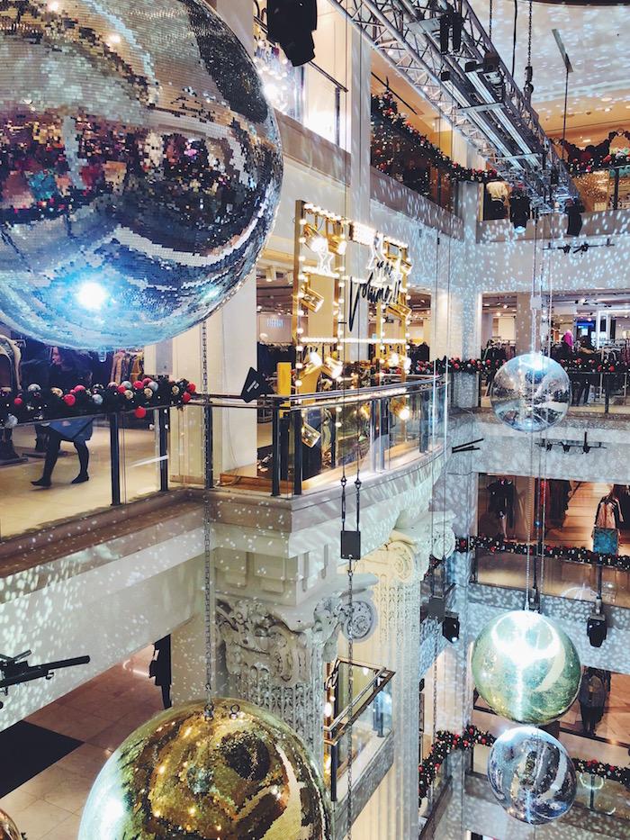 Selfridges London during Christmas