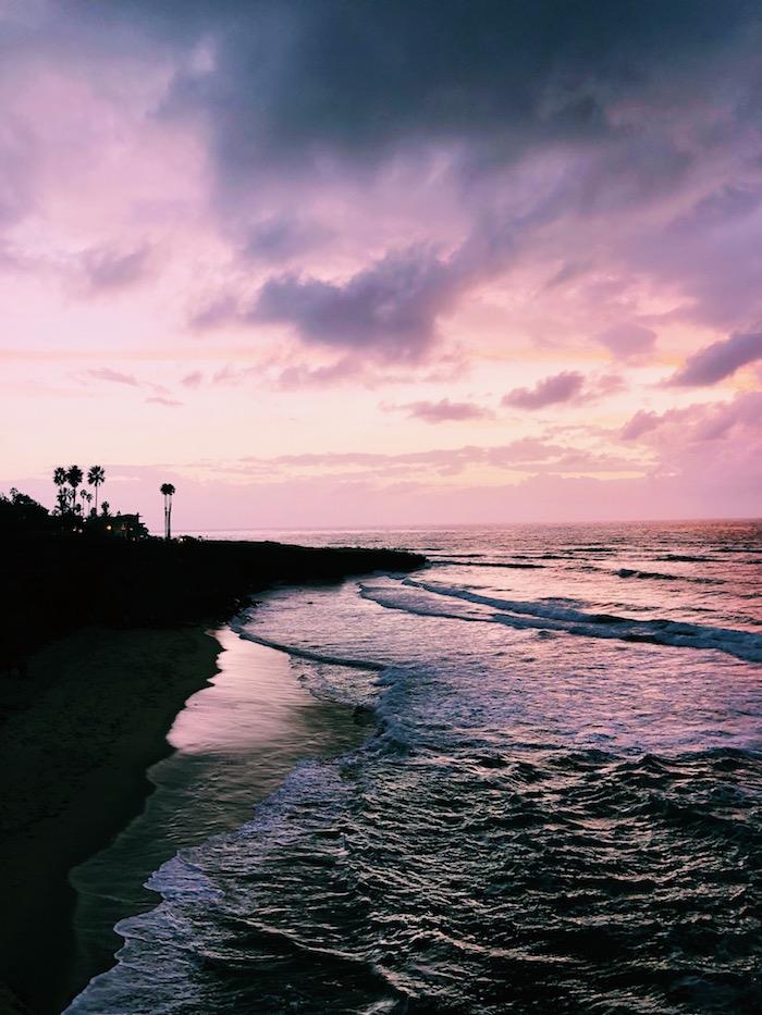 Sunset Cliffs sunset in San Diego