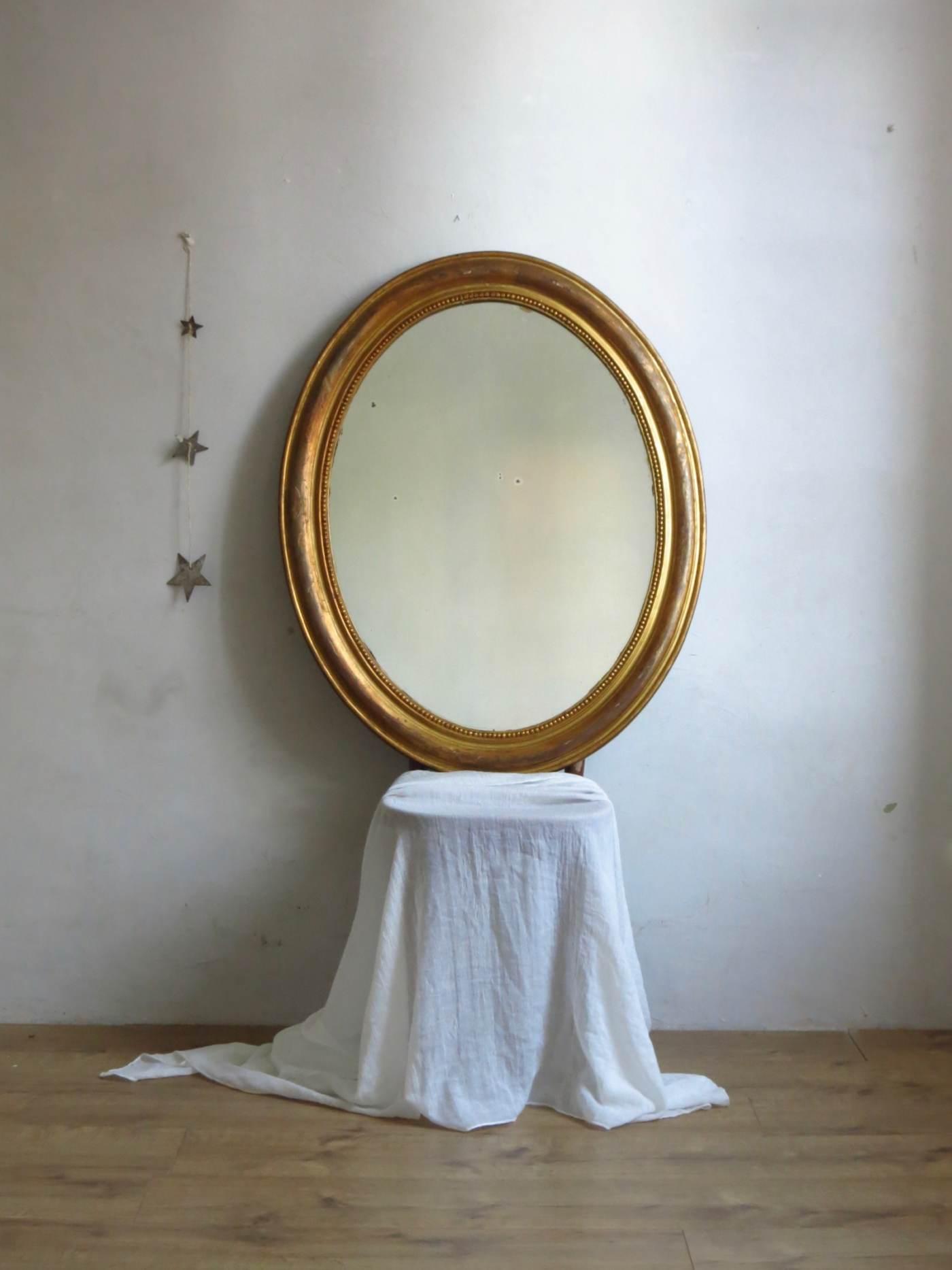 miroir ancien ovale c est vintage