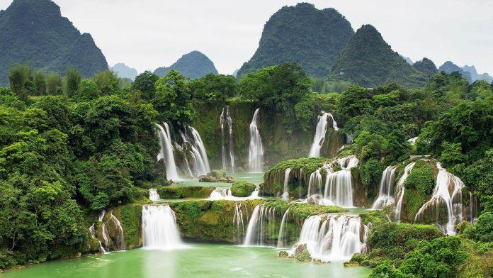 Ban Gioc–Detian Şelalesi, Vietnam Çin Sınırı  Asya'nın 7 Doğal Harikası Ban Gioc   Detian   elalesi Vietnam   in S  n  r