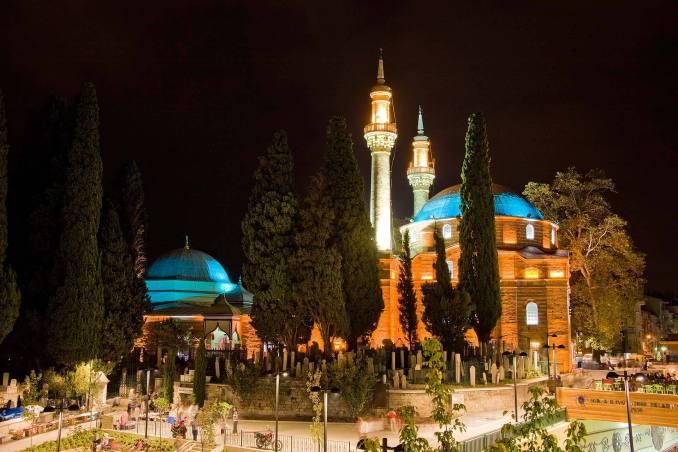 Emir Sultan Cami ve Külliyesi Gece