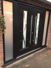 Vermont French Doors with Haze Glass Design