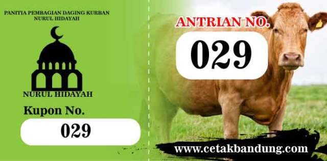 Kupon-Pembagian-Daging-Kurban Bandung