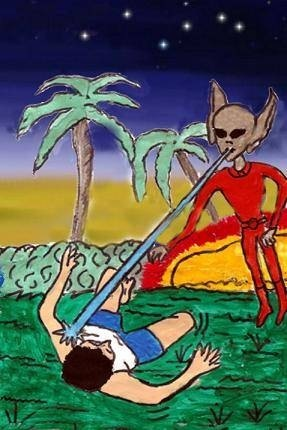 Itarema: Alienígena ataca garoto! Com canivete!