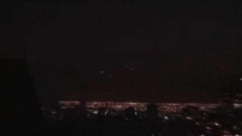 """Fabulosa formação de """"OVNIs"""" sobre o Chile"""