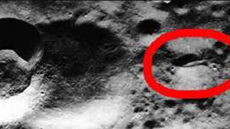 Vídeo de uma nave alienígena enterrada na Lua