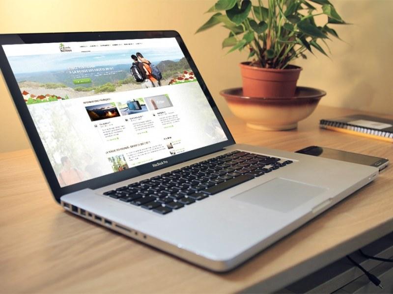 mockup d'un site internet responsive design réalisé par le CETIR