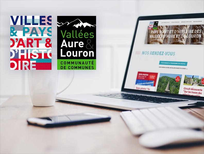 refonte graphique et développement web du site internet du Pays d'art et d'histoire des vallée d'Aure et du Louron