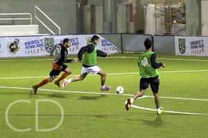 Los de Pérez prepararon el partido frente al 'Recre' B. (Archivo)