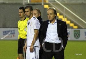 Álvaro Pérez, poco antes de que Ismael entrara en el campo