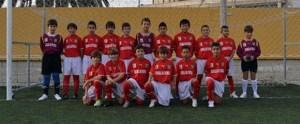 La selección sub-12 de fútbol 8, en el José Martínez 'Pirri'