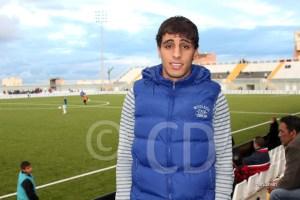 Chakir estuvo el domingo en el Murube viendo el derbi juvenil y al Atlético de Ceuta
