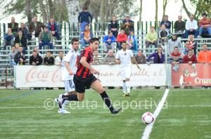 El Atlético de Ceuta no tuvo pegada en el 'Carlos Marchena'