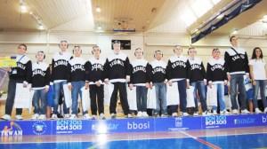 El equipo alevín del CN Caballa, durante la presentación del Tewan Marbella 2013