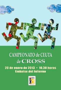 Cartel anunciador del Campeonato de Ceuta de Cross, que se celebrará el 20 de enero