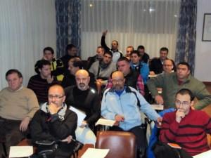 Los alumnos, durante la reunión de esta tarde en el Parador La Muralla